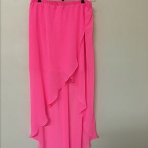 Hot pink H&M high low skirt